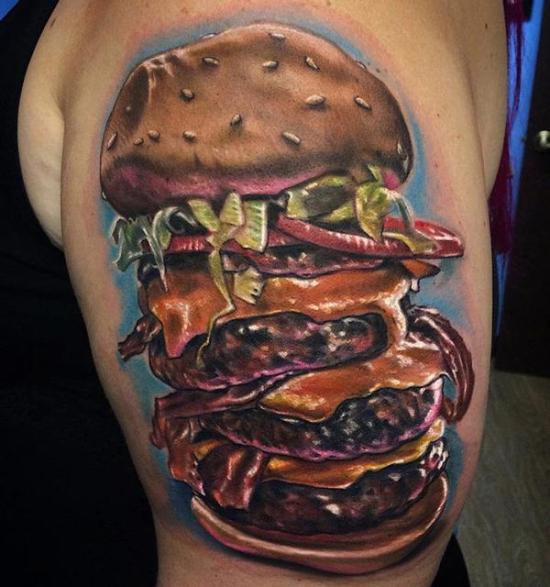 Bacon Cheeseburger ~ Worst Bad Tattoos