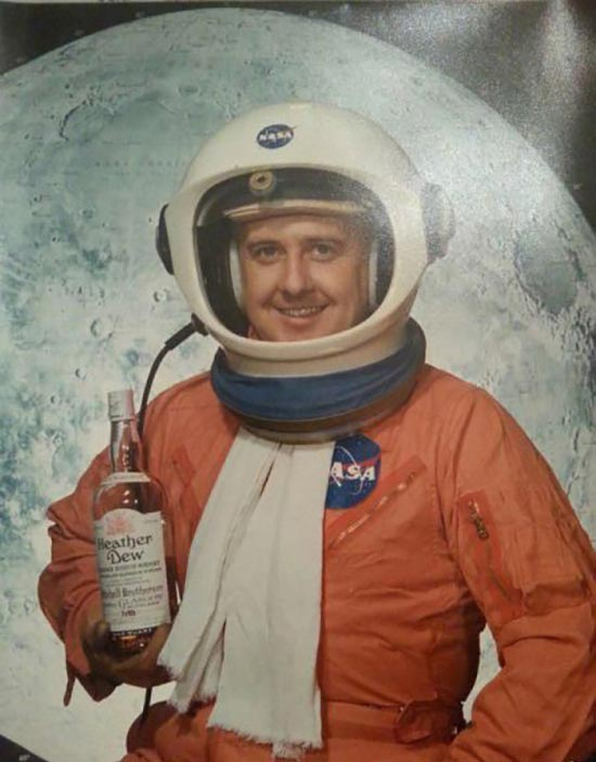 Portrait of astronaut with Scotch bottle ~Awkwardly Funny Family Photos