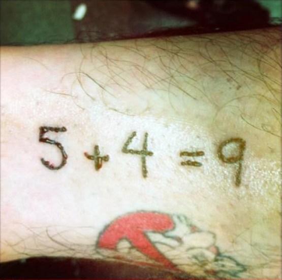 Ugliest Worst Bad Tattoos ~ 5 + 4 = 9