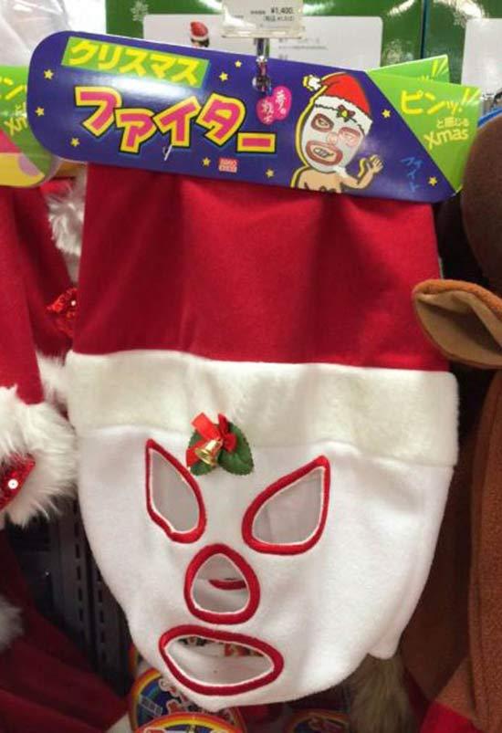 Funny Christmas Pics ~ Mexican wrestler Santa Mask