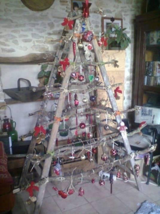 redneck step ladder chhristmas tree