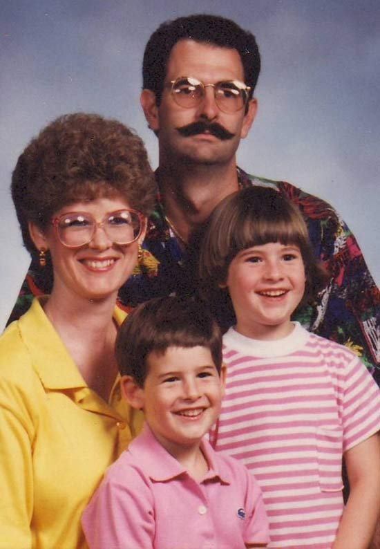 Funny Awkward Family Photos: portrait 1970s mustache
