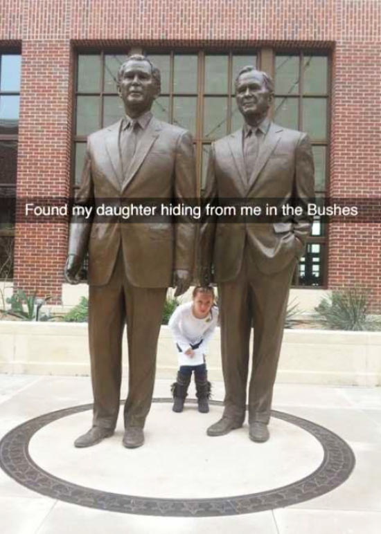 Funny Snapchats~ found my daughter hiding in the bushes