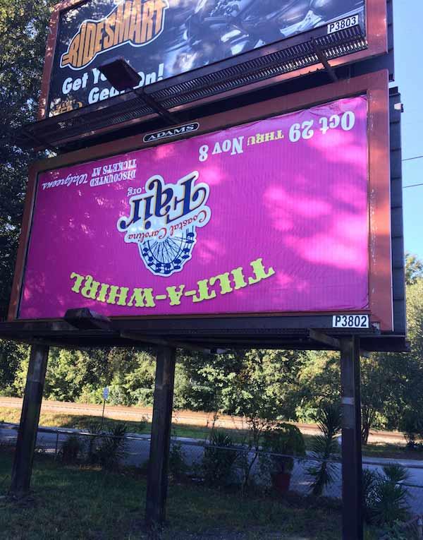Upside down billboard ~ Funny You Had One Job Fails
