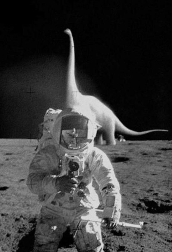 Dinosaurs on the moon proof