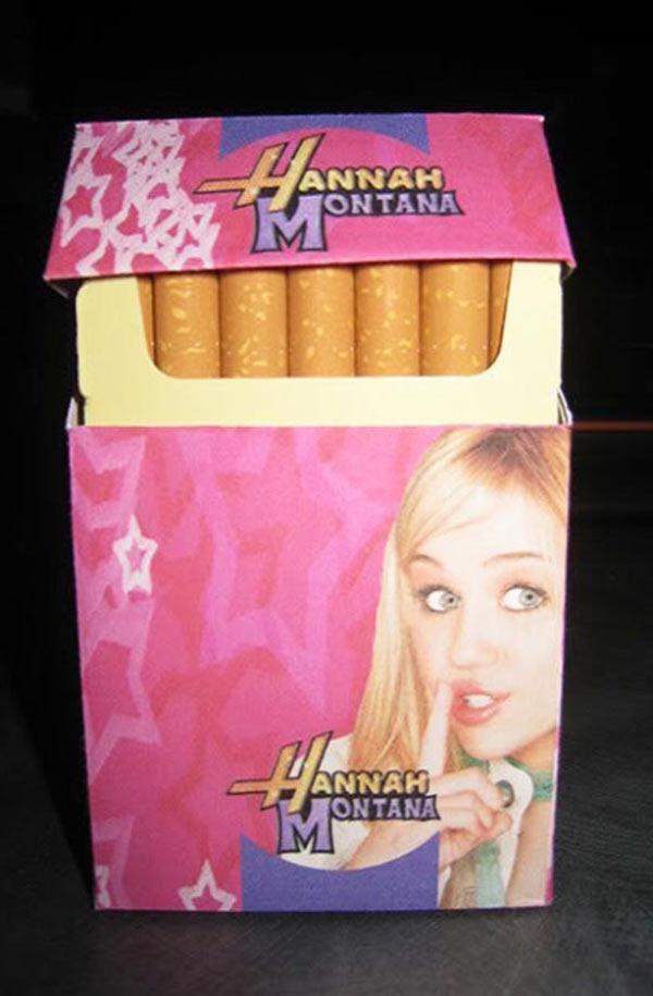 Hannah Montana cigarettes