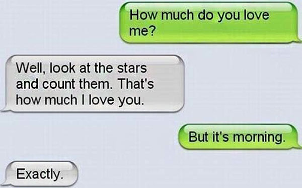 witty flirty text messages