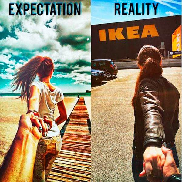 expectation ~ reality back ikea