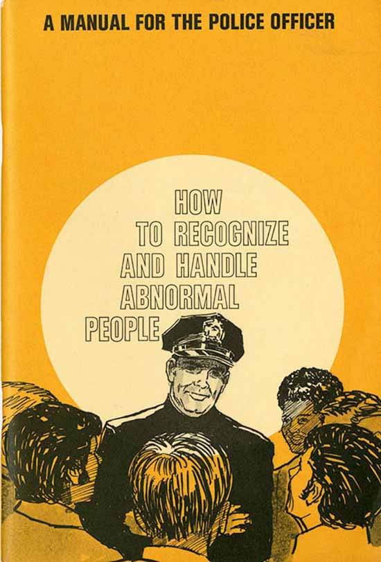 Funny pics ~ vintage police manual ~ how to recognize and handle abnormal people