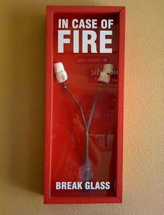 31 funny pics & Memes ~in case of fire, break glass- roasting marshmallows