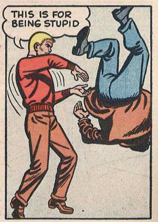33 Funny Pics of the Day ~ vintage cartoon comics frame: this is for being stupid