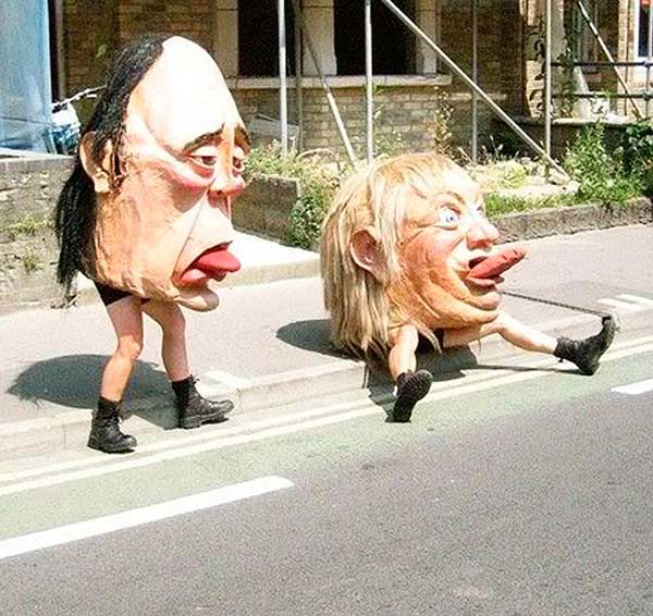 33 Funny Pics of the Day ~ creepy paper mache heads