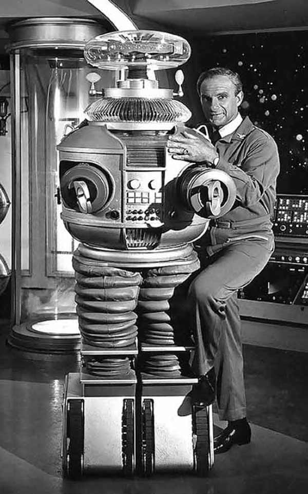 vintage pic, Dr. Smith and Robot, Lost in Space