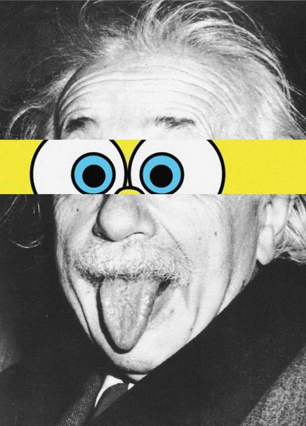 35 Funny Pic Memes ~ Albert Einstein mashup Spongebob eyes