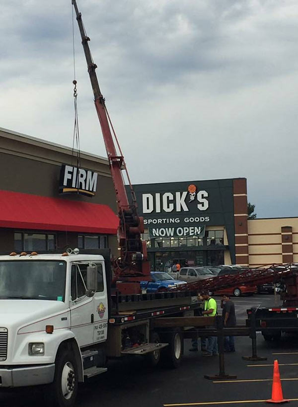 funny signs, unfortunate placement, firm dick's