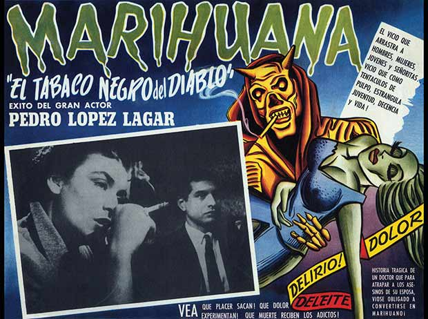 Marihuana ~ 13 anti-reefer movie posters from the 1930's & 40's. Propaganda to fight marijuana use in teens and adults