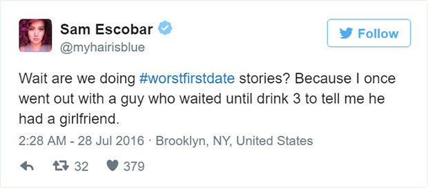 31 Funny Tweets About the Worst First Dates Ever!
