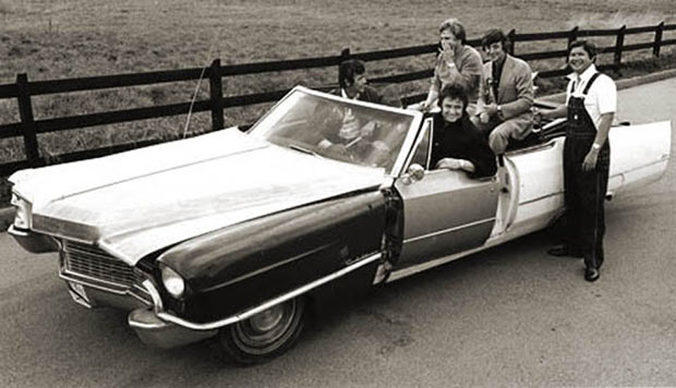 """23 Rock Star & Their Classic Cars ~ Johnny Cash & his Cadillac """"One Piece at a Time"""""""