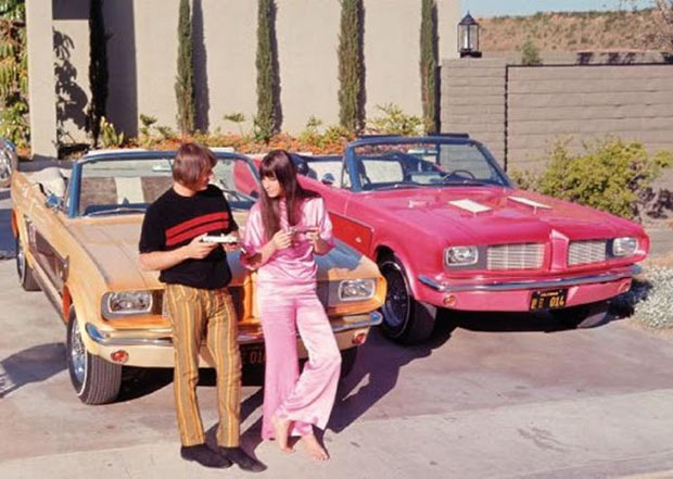 23 Rock Star & Their Classic Cars ~ Sonny & Cher Ford Mustangs