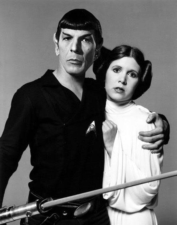 Funny Pics, Cool Stuff ~ Leia, Spock, Leonard Nimoy Carrie Fisher photo