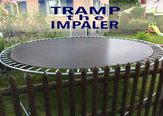 35 Funny Pics ~ trampoline next to spike fence, Tamp the Impaler