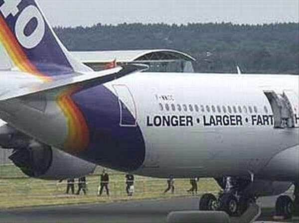 25 Funny Sign Fails ~ longer larger fart airlines