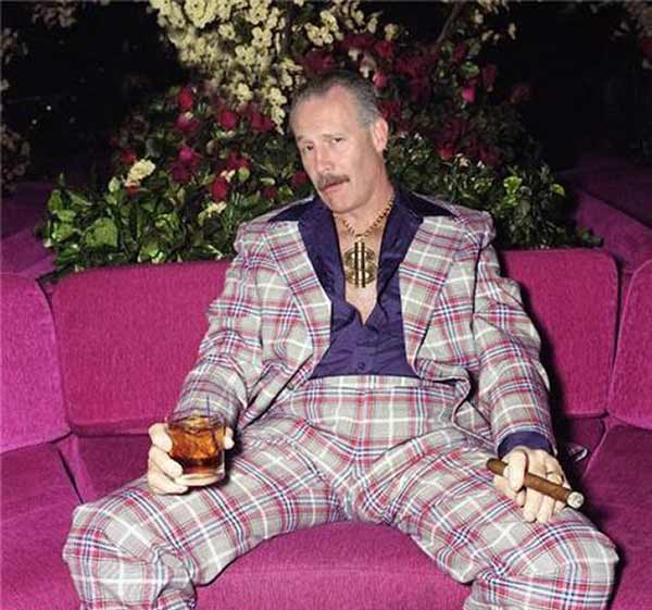 27 Funny Family Photos & Vintage Snaps ~ Leisure suit, gold chains, whiskey and cigar