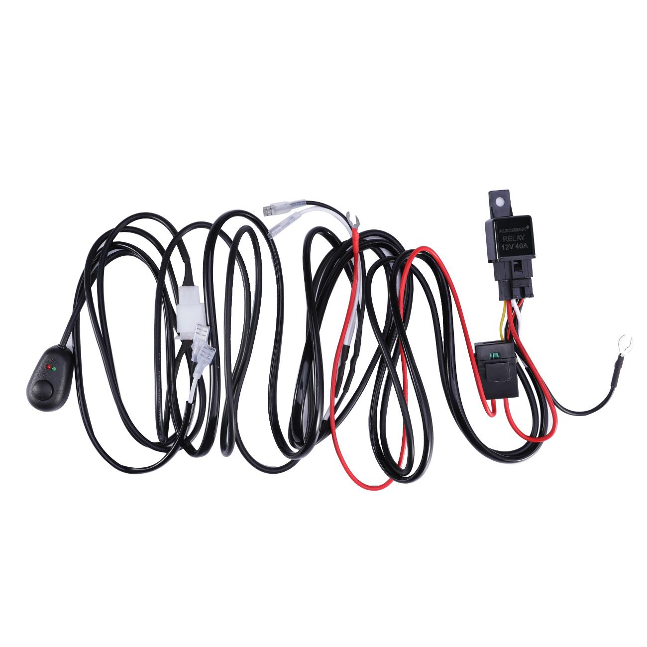 Auxbeam Universal Harness Kit with mouse style witch For