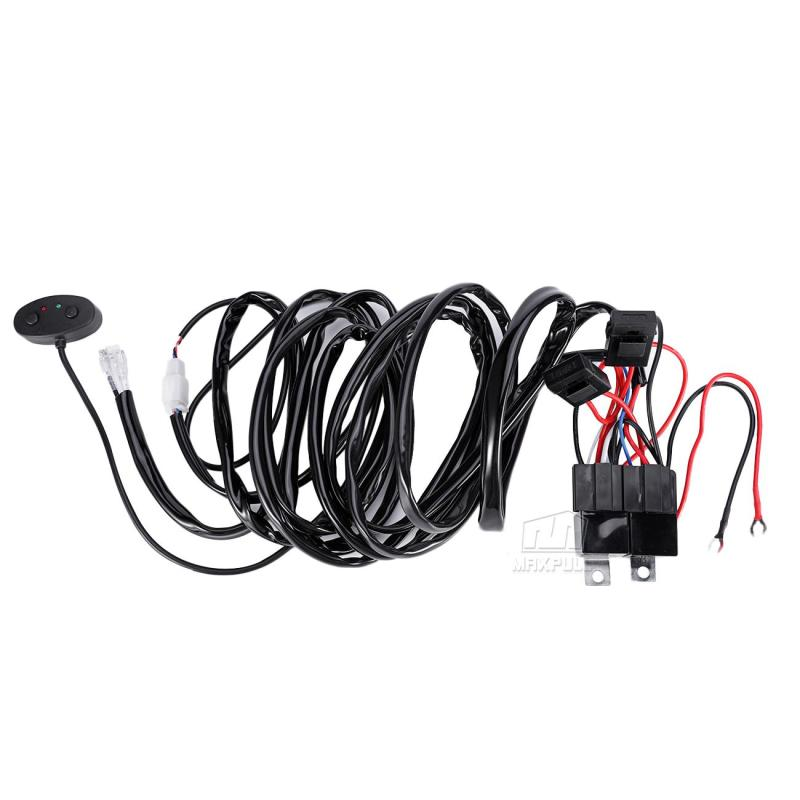 Wiring Loom Harness Kit Relay Switch Fuse For HID LED