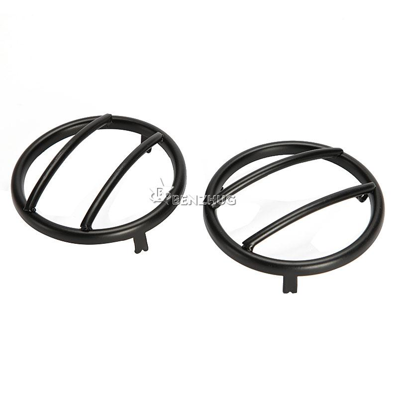 2X Black Front Turn Signal lights Guards For JEEP Wrangler