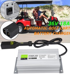 details about 36 volt 18 amps battery charger golf cart 36v 18a charger for ez go club car txt [ 1300 x 1300 Pixel ]