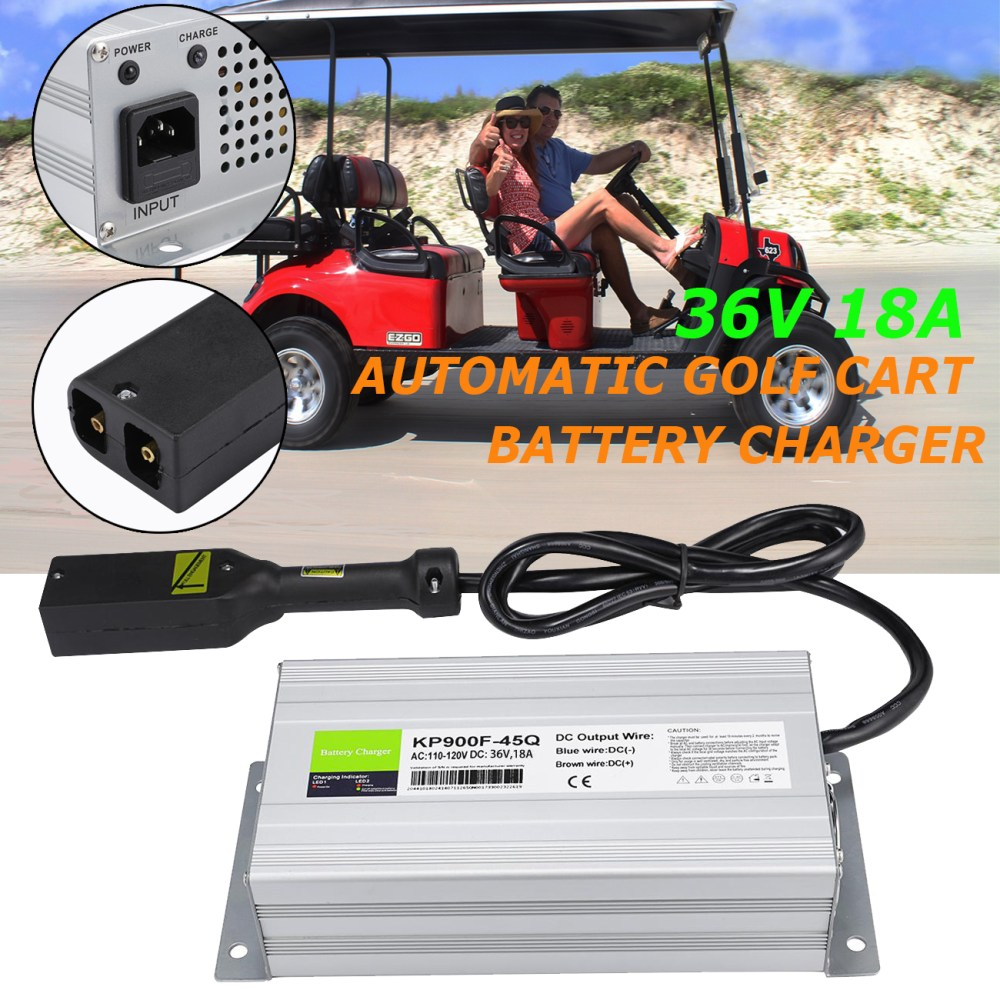 medium resolution of details about 36 volt 18 amps battery charger golf cart 36v 18a charger for ez go club car txt