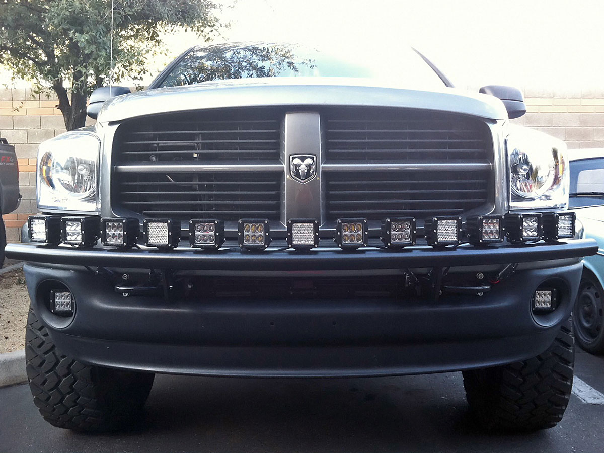 hight resolution of 6x 4inch 18w cree led light bar work flood offroad for ford jeep atv truck suv ebay