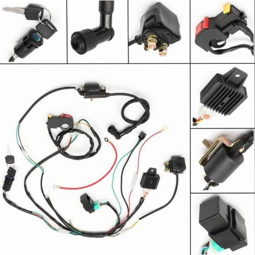 small resolution of details about 50 70 90 110cc 125 cdi wire harness assembly atv electric start quad wiring kit
