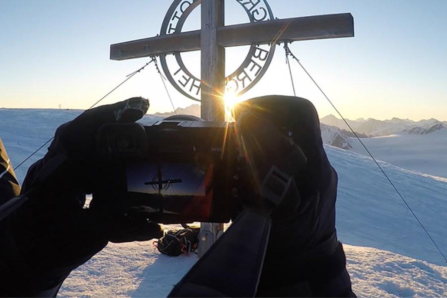 Weisseespitze Sonnenaufgang POV