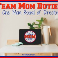 Team Mom Duties - A One Mom Board of Directors