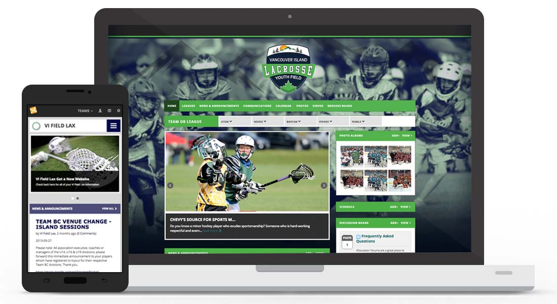 sports website software create