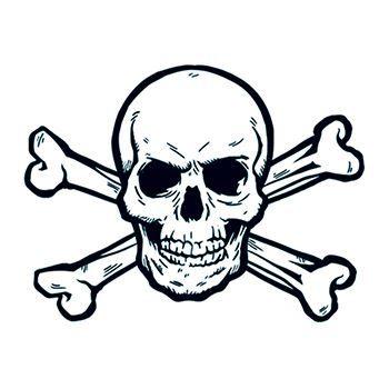 Skull And Crossbones Temporary Tattoos 1601 Team Pomelo