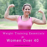 Weight training essentials for women over 40.