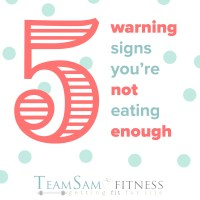 Warning signs that you may not be eating enough.