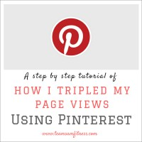 A step by step guide of how I tripled my page views using Pinterest.