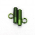 CNC Machined Shock Bodies & Spring Collars (w/o-ring) for Axial Wraith (1 pair) Green