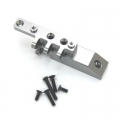 CNC Machined HD Alum. Front Servo Mount Block/Upper link mount, Axial Wraith (Gun Metal)