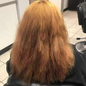 Salon Client with Orange Hair