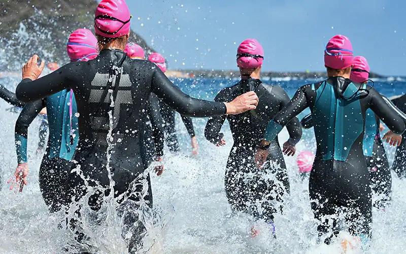 Image result for triathlon swim start