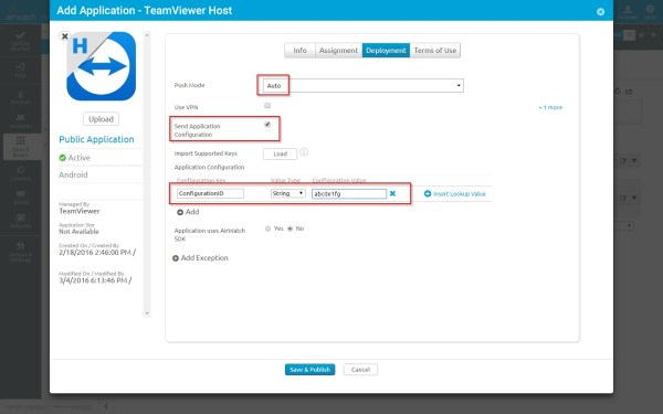 Deploy Teamviewer Host Android And Assign Devices Account