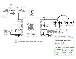 WLD3343 3 A Laser Diode Driver | Wavelength Electronics