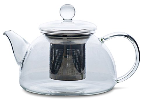 REDBIRD GLASS TEAPOT OR KETTLE - STAINLESS STEEL TEA INFUSER FILTER BASKET
