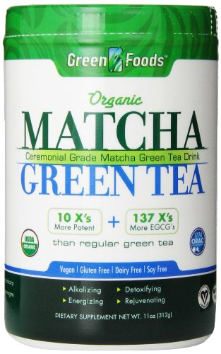 GREEN FOODS 11 OUNCE MATCHA GREEN TEA