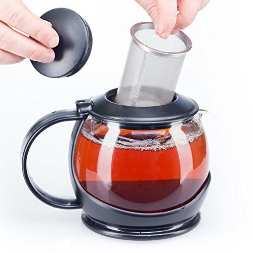 BOBUCUISINE GLASS TEAPOT WITH INFUSER AND WARMER SLEEVE
